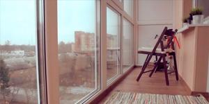 Французкое остекление балкона